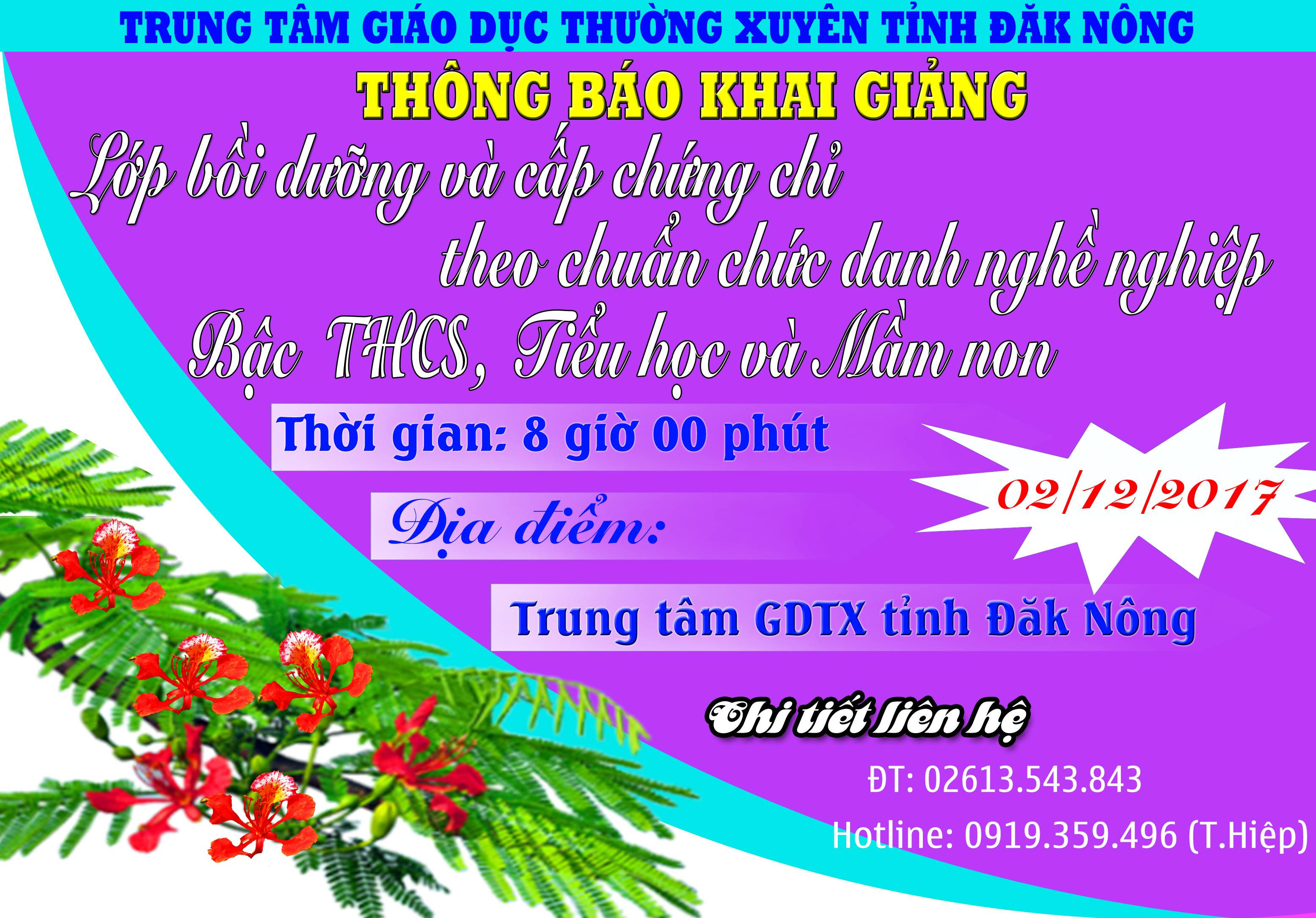 Thang hang GV thong bao