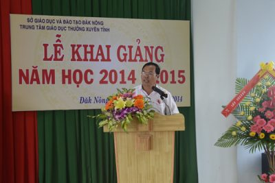Trung tâm Giáo dục thường xuyên tỉnh Đăk Nông Khai giảng năm học mới 2014 – 2015