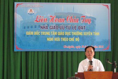 Liên hoan chia tay nhà giáo Ưu tú Lê Đạt nghỉ hưu theo chế độ
