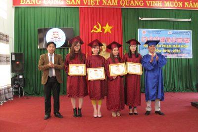 Lễ trao bằng tốt nghiệp ngành SP Mầm Non – Đam San