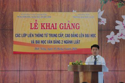 Lễ Khai giảng các lớp Liên thông từ Trung cấp, Cao đẳng lên Đại học và Đại hoc Văn bằng 2 ngành Luật