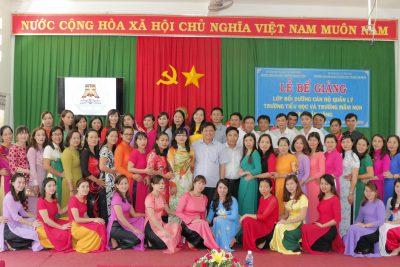 Hình ảnh Lễ Bế giảng lớp Quản lý Giáo dục bậc Tiểu học và Mầm non