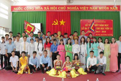Lễ Tổng kết năm học – Lễ ra trường cho học viên 12 năm học 2017-2018