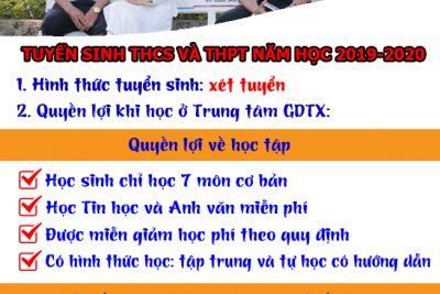 THÔNG BÁO TUYỂN SINH THCS VÀ THPT NĂM HỌC 2019-2020