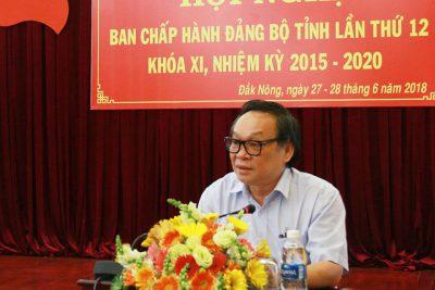 Khai mạc Hội nghị Ban Chấp hành Đảng bộ tỉnh lần thứ 12