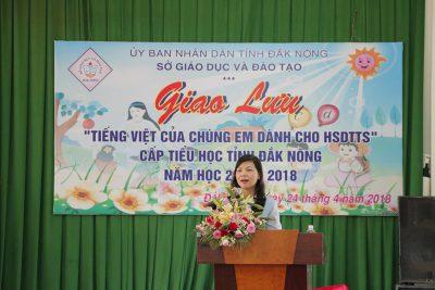 """Giao lưu """"Tiếng Việt của Chúng em dành cho học sinh HSDTTS"""" cấp tiểu học tỉnh Đăk Nông năm học 2017-2018"""