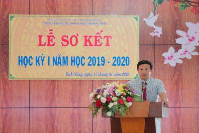 LỄ SƠ KẾT HỌC KỲ I, NĂM HỌC 2019-2020